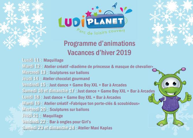 Programme Ludi vacances hiver 2019