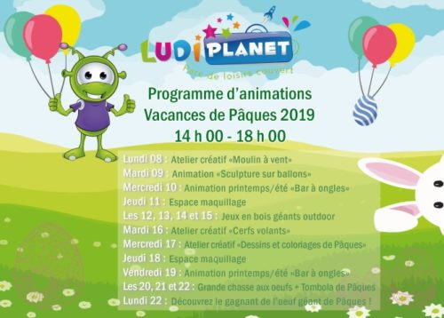 Animations vacances de printemps Ludi Planet