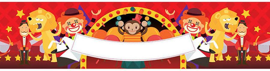 1 couronne circus pour prendre la photo d'anniversaire