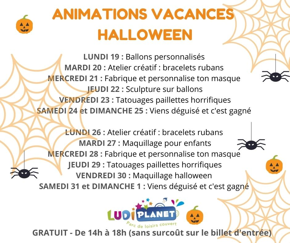 ANIMATIONS VACANCES HALLOWEEN