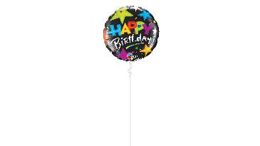 1 Ballon gonflé à l'hélium confetti