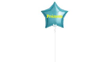 1 Ballon personnalisé avec le prénom de l'enfant écriture 2D paillettes, gonflé à l'hélium